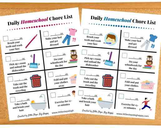 Teaching Independence in Preschoolers - Visual Daily Routine Chart