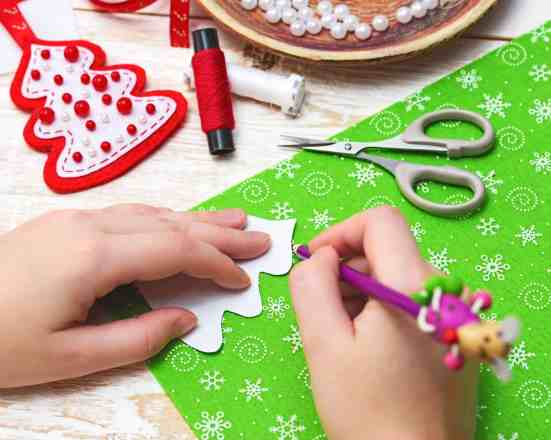 Indoor Christmas Activities for Families - Make Christmas ornaments