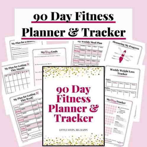 90 day Fitness Planner and Tracker