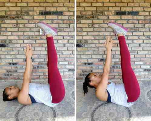 Toe Touches Beginner HIIT Workout No Equipment