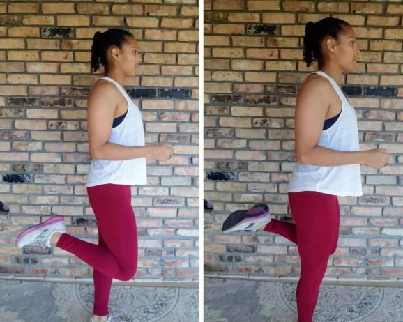 Butt Kicks Beginner HIIT Workout No Equipment