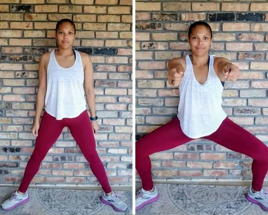 Sumo Squats Beginner HIIT Workout No Equipment