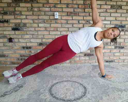 Side Plank Left - 20 Min Tabata Workout for Beginners: Abs & Arms