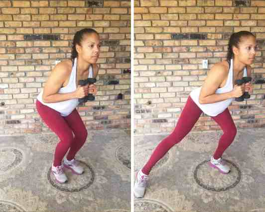 Side Taps - Need Some EMOM Workout Ideas? Try this EMOM Dumbbell Routine
