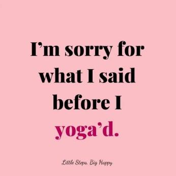 Funny Yoga Quote