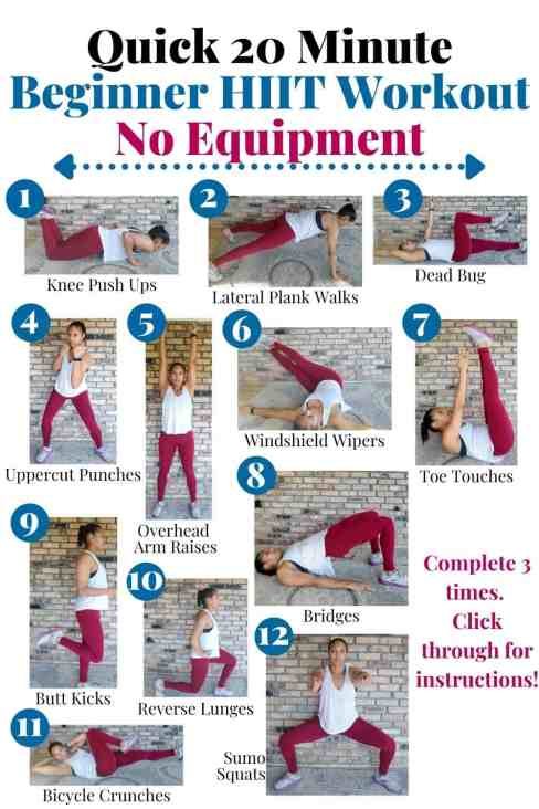 8 At Home Beginner Workouts For Females (Without Equipment)