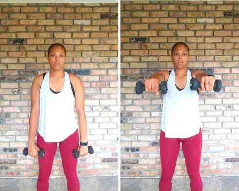 Front Raise - Exercises for flabby arms