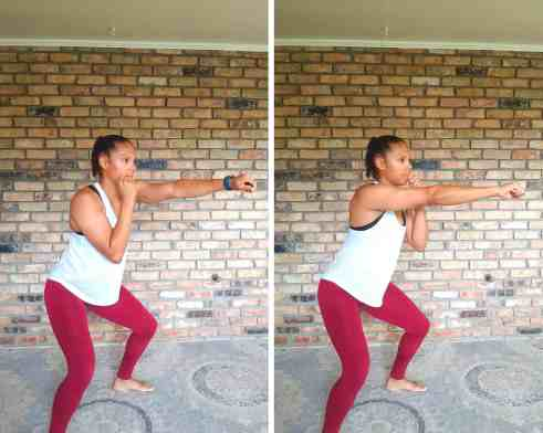 Punches - Exercises for flabby arms