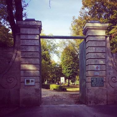L'une des portes d'entrée du parc Buffon