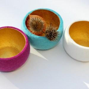 Schale, Merino, golden