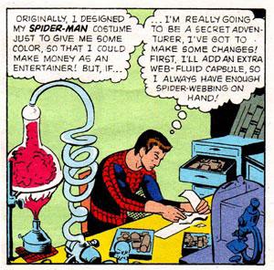 Peter Parker visto da Steve Ditko
