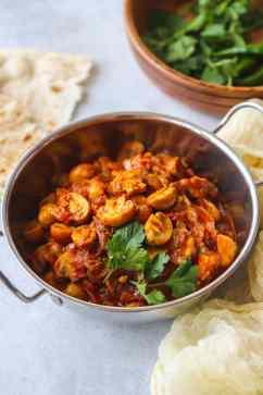 Mushroom Bhaji - Little Sunny Kitchen