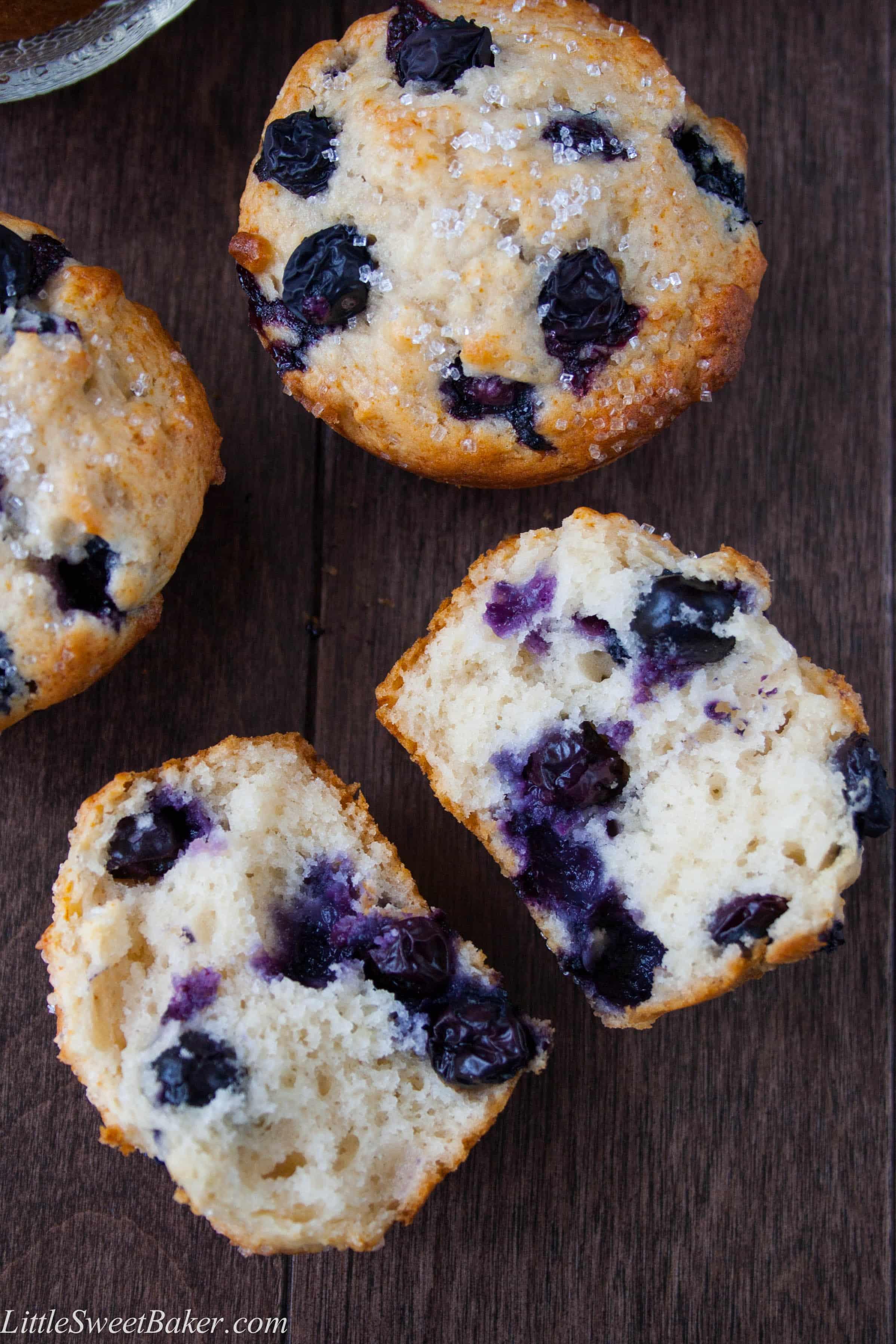 blueberry buttermilk muffins little sweet baker
