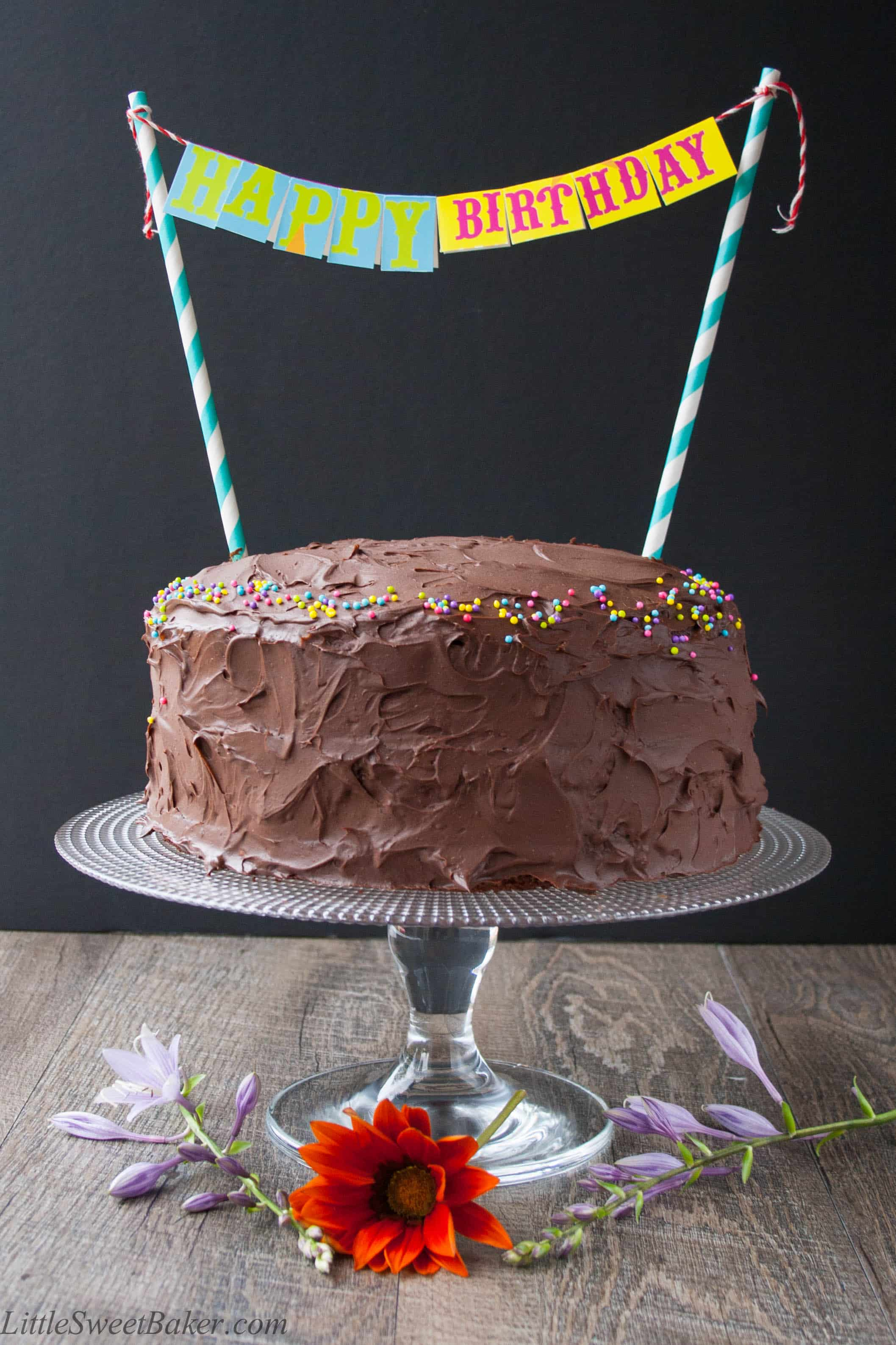 Chocolate Birthday Cake - Little Sweet Baker