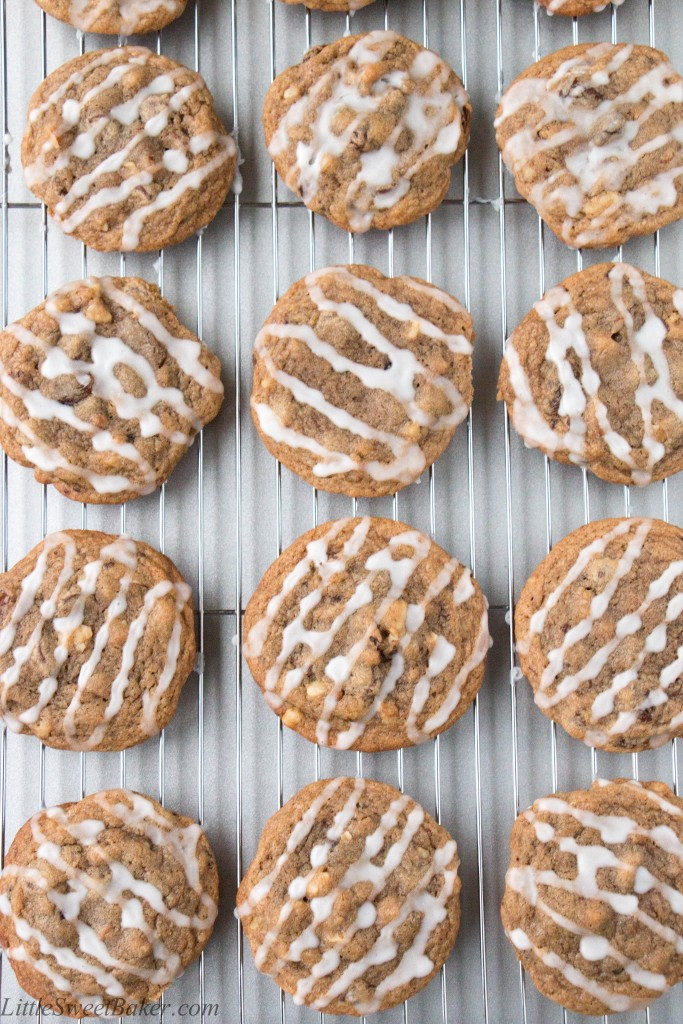 MOCHA HERMIT COOKIES. This classic cookie is loaded with raisins, walnuts, and chocolate chips. It has a hint of coffee flavor, and a whole lot of spice, all wrapped in a soft chewy cookie!