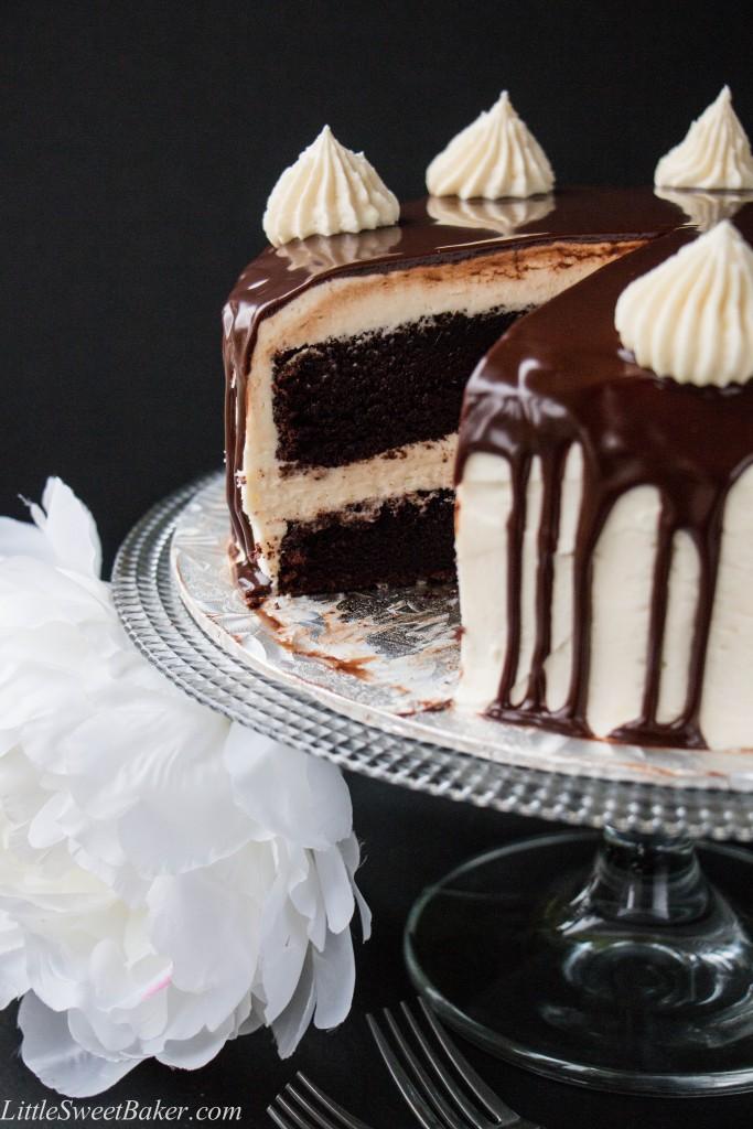 Vanilla Cake With Chocolate Ganache Recipe