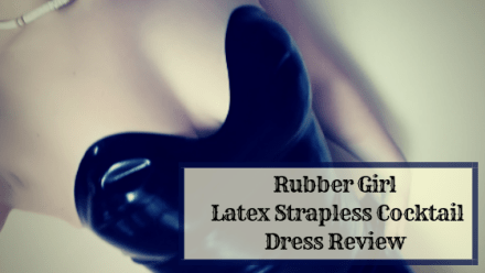 Rubber Girl Latex Strapless Cocktail Dress