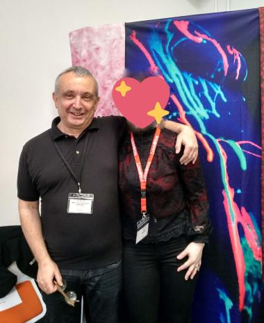 Myself and Mark from Sheets of San Francisco at Eroticon on Sunday