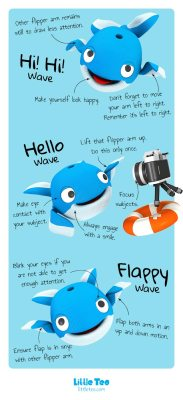 Cute whale wave guide | ADORABLE CUTE CHARACTER STORY PICTURE