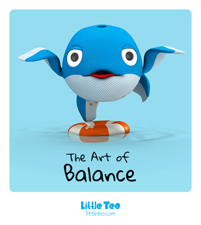 Funny art of balance | ADORABLE CUTE CHARACTER STORY PICTURE