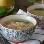 Recette simple et gourmande d'un plat portugais, canja de galinha, poule au pot ou bouillon du portugal