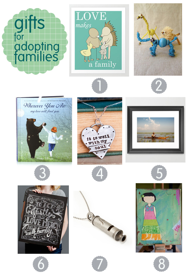 gift guide: gifts for adoptive parents and families