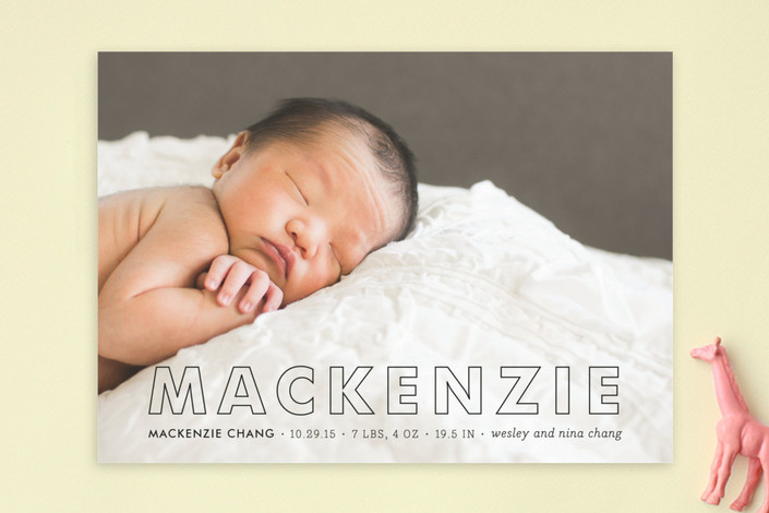 tailored birth announcement by by sara hicks malone