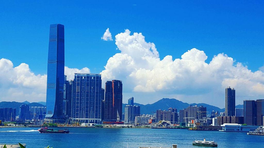 Hong Kong Waterfront from IFC Mall