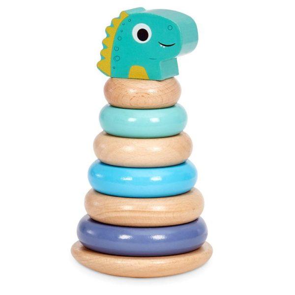 Wooden Critters Dino Shape Stacker Developmental Toy Single