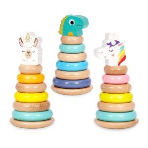 Wooden Criters Shape Stackers Developmental Toys