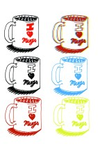 i heart mugs layout