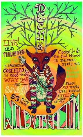 Wild Vibracion Concert Poster curated by Wild Kindness Records 2011