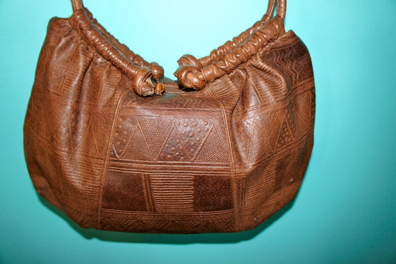 Vintage TRIBAL embossed cross body bag