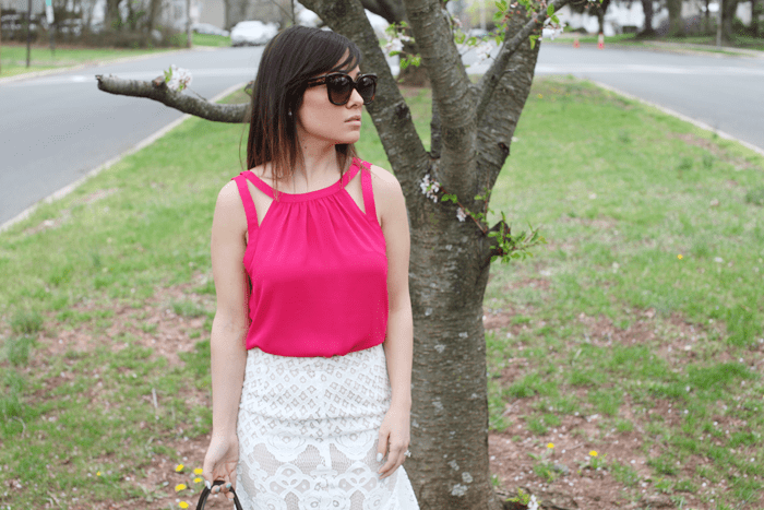 A pop of color for this perfect Spring outfit.