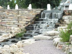 FOUNTAINS AND WATERFALLS