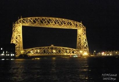 AERIAL LIFT BRIDGE AT NIGHT