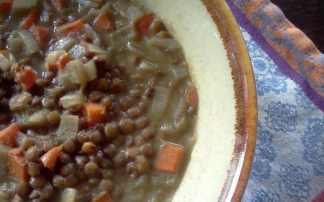 Warming Barley Lentil Soup