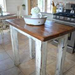 Kitchen Island Rustic Tables For Little Vintage Nest