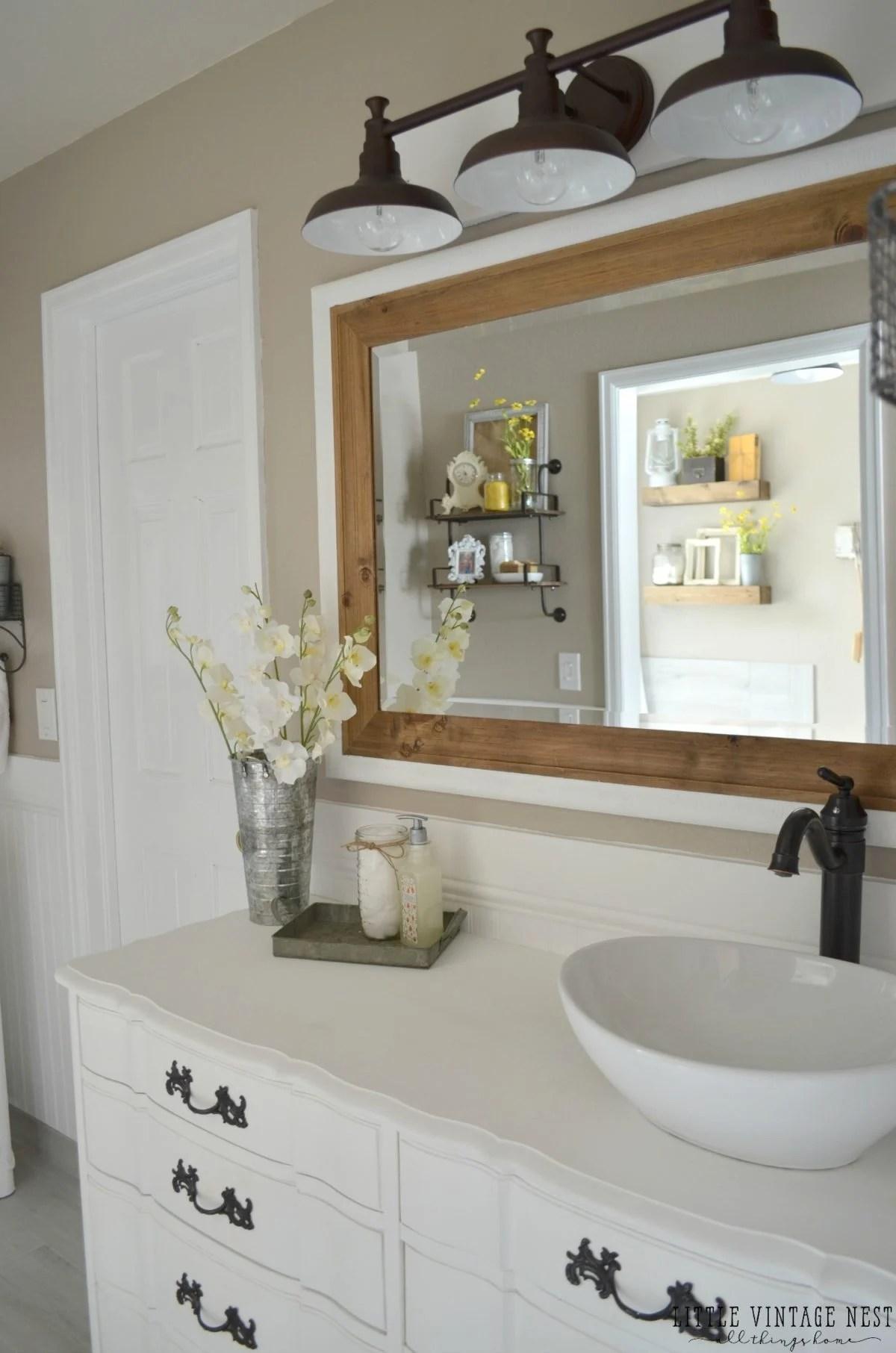 Farmhouse Master Bathroom Reveal  Little Vintage Nest
