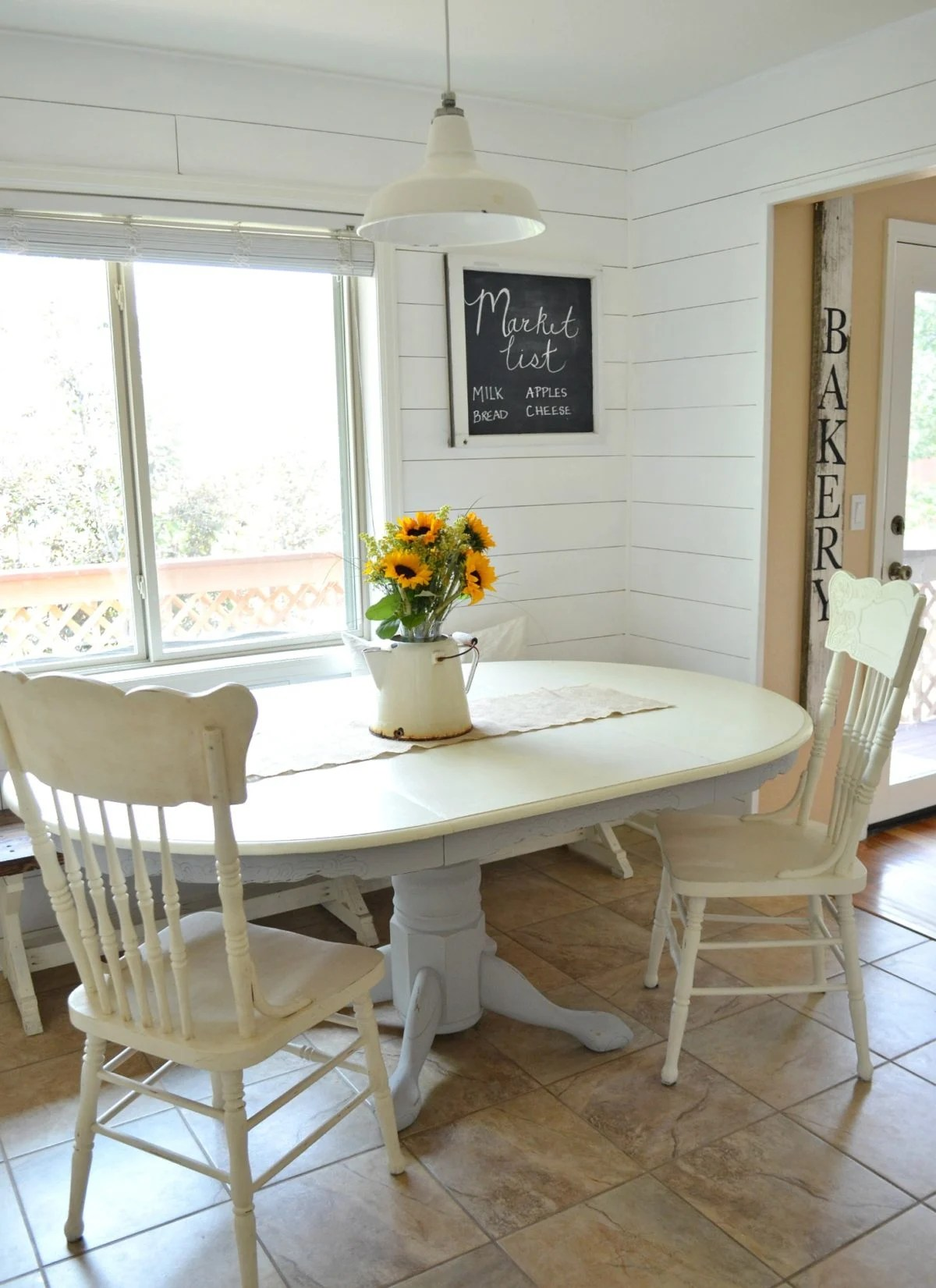 white painted table and chairs dining metal chalk paint makeover little vintage nest