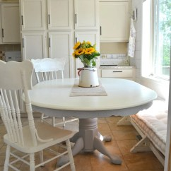 Painted Table And Chairs Ball Chair Benefits Chalk Paint Dining Makeover Little Vintage Nest