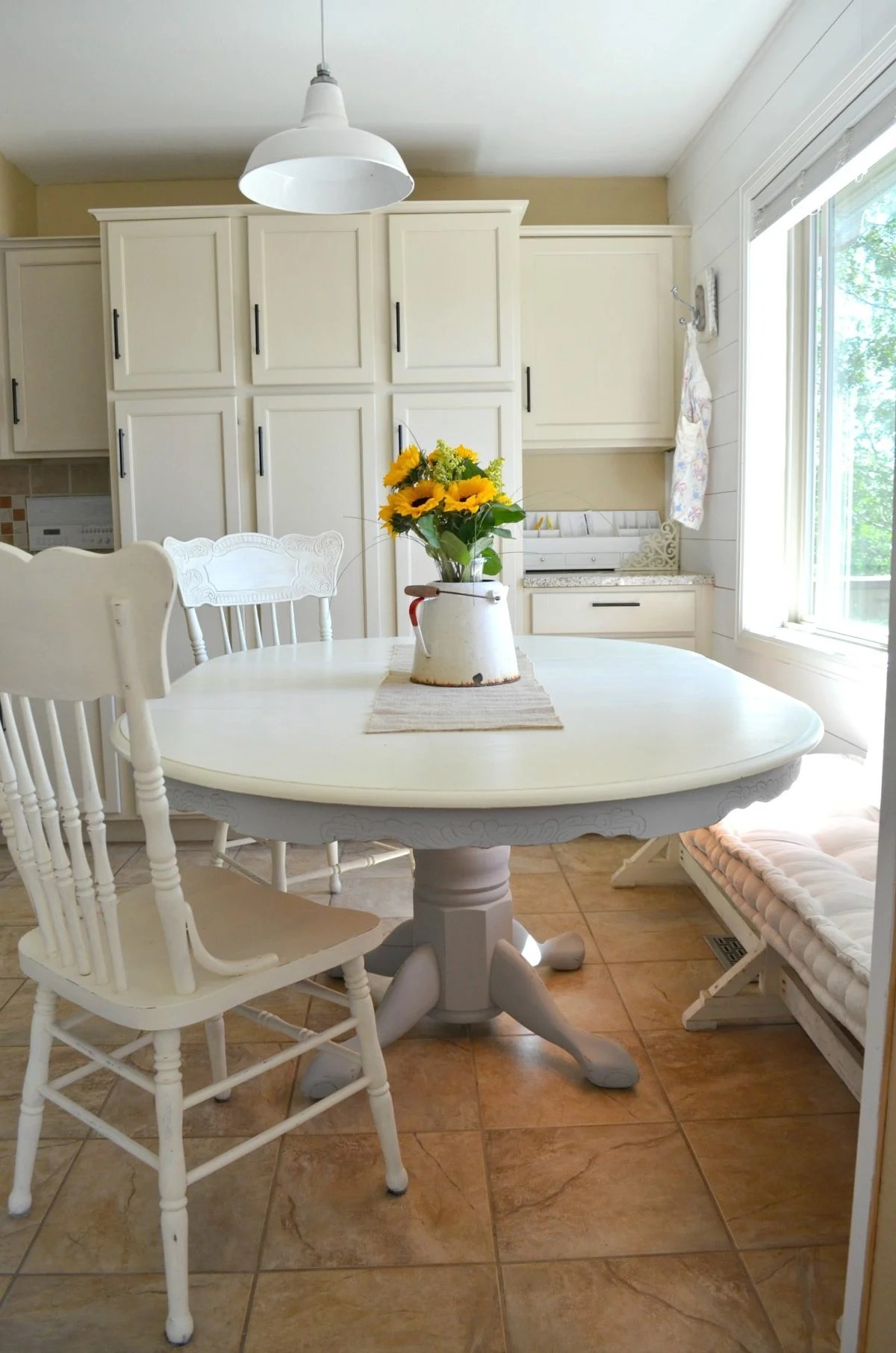 painted tables and chairs shower chair for handicapped chalk paint dining table makeover little vintage nest