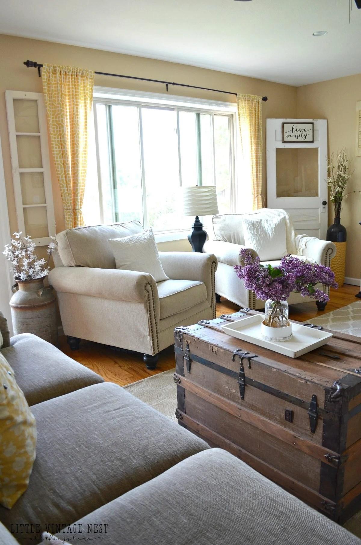 Farmhouse Living Room Summer Refresh  Little Vintage Nest