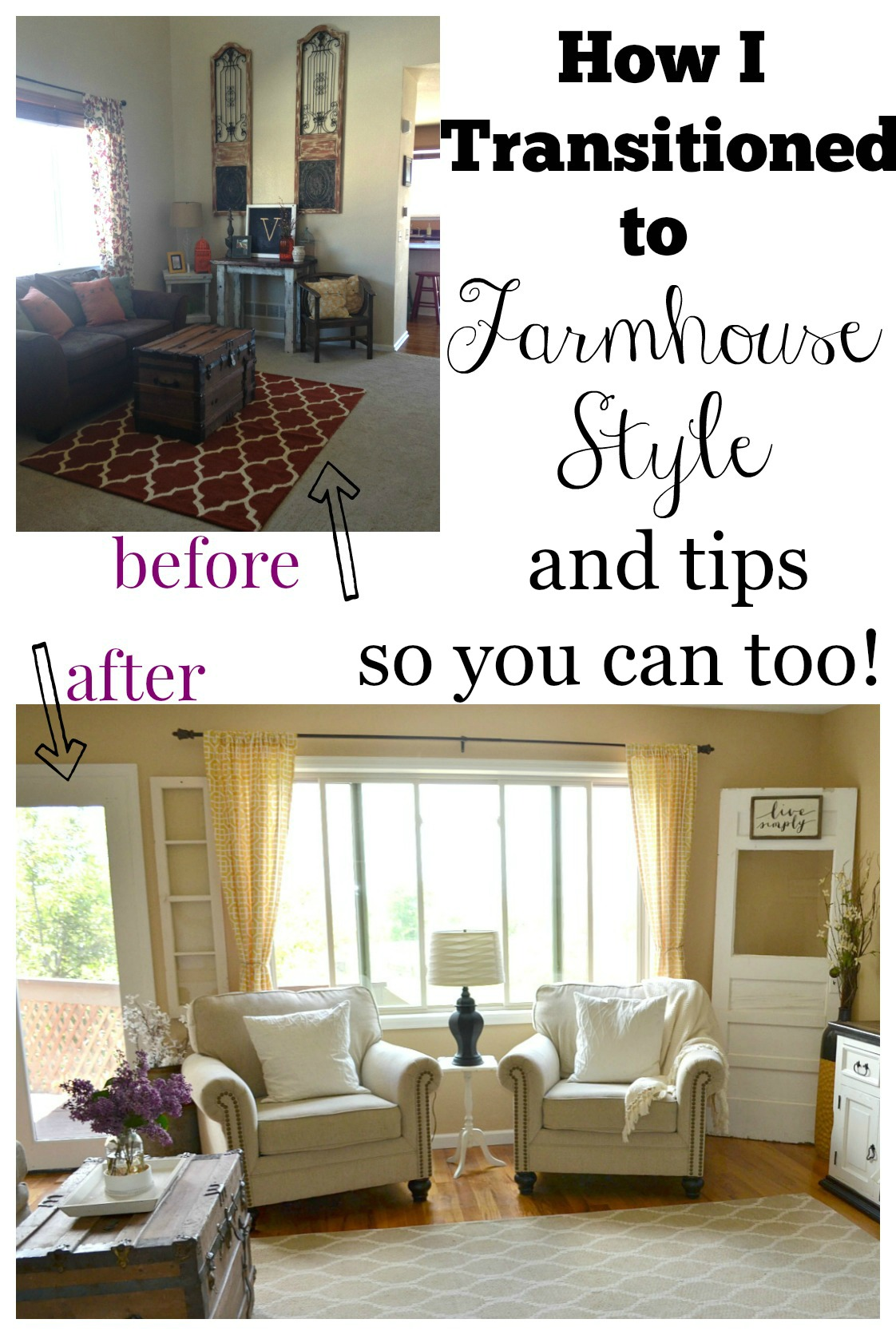 How I Transitioned to Farmhouse Style