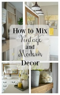 How to Easily Mix Vintage and Modern Decor - Little ...