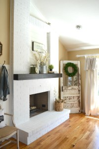 How to Paint a Brick Fireplace - Little Vintage Nest