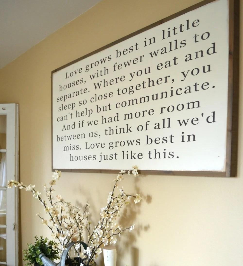 Download Love Grows Best in Little Houses Sign - Little Vintage Nest