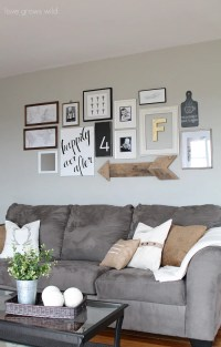 Creative Ways to Decorate Above the Sofa - Little Vintage Nest