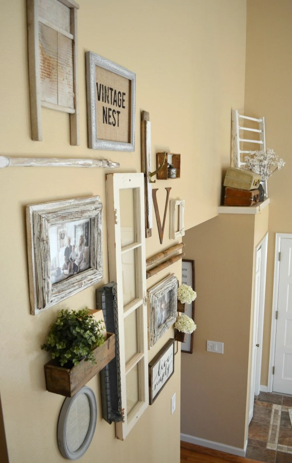 Staircase Wall & Collection Of Vintage Treasures