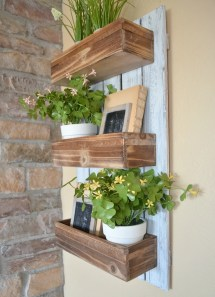 Diy Wooden Wall Planter - Little Vintage Nest